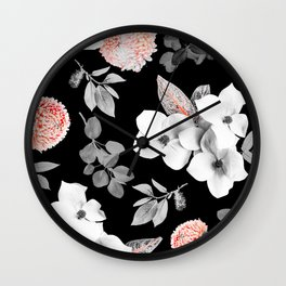 Night bloom - moonlit flame Wall Clock