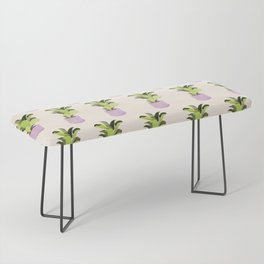 Fiddle leaf fig gouache painting Bench