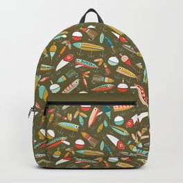 Fishing Lures Green Backpack