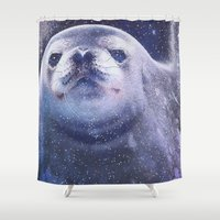 seal Shower Curtains featuring Seal by Asya Solo