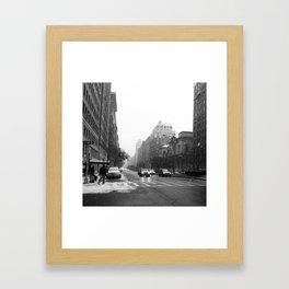 Galoshes in the City Framed Art Print