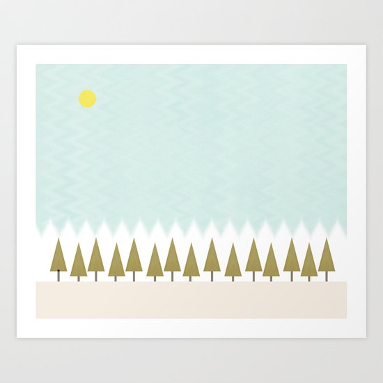 The Forest in Winter Art Print