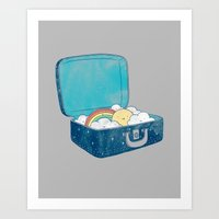 ilovedoodle Art Prints featuring Always bring your own sunshine by I Love Doodle
