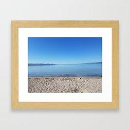 Lake in Blue Framed Art Print