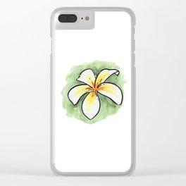 Frangipani 1 Clear iPhone Case