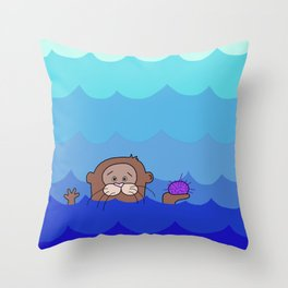 Otterly Delightful Throw Pillow