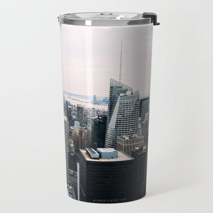 New York skyline from Top of the Rock Travel Mug