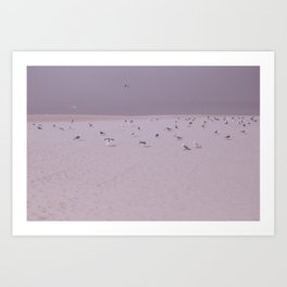 Reunion at the sand Art Print
