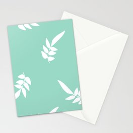 Mint and leaf Stationery Cards