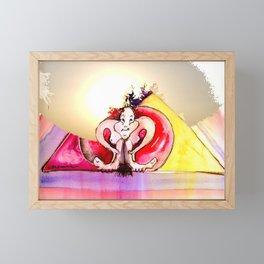 """Jester B the """"Cherry"""" Framed Mini Art Print"""