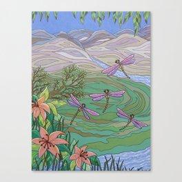 Dragonfly Paradise Canvas Print