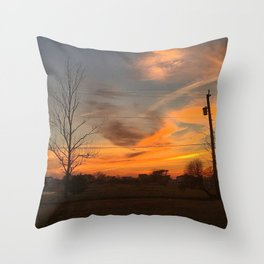 Fall Skies in South Jersey Throw Pillow