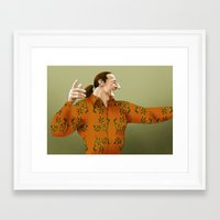 sopranos Framed Art Prints featuring Furio by Jessica On Paper