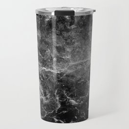 Enigmatic Black Marble #1 #decor #art #society6 Travel Mug
