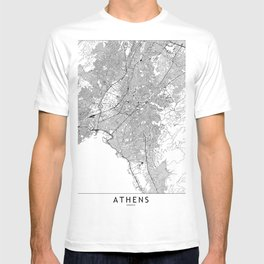 Athens White Map T-shirt