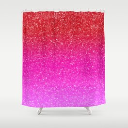 Red/Pink Glitter Gradient Shower Curtain