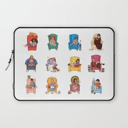 Reading fictional characters Laptop Sleeve