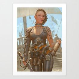 Rixa Rae Silver Art Print
