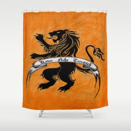 Amazon Etruria's orange flag Shower Curtain