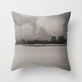 Ural urban winter Throw Pillow