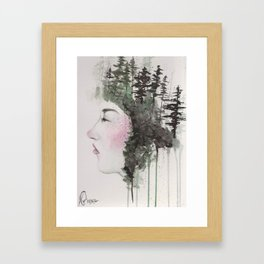 """Sometimes, even the snow is sad."" Framed Art Print"