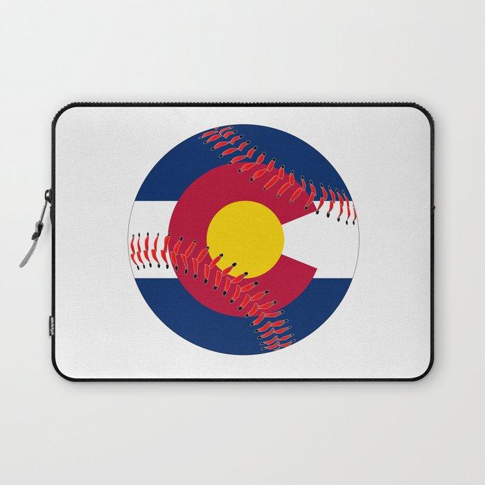 Colorado Flag Baseball Laptop Sleeve By Homestead
