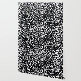 ANIMAL PRINT CHEETAH #5 BLACK AND WHITE PATTERN Wallpaper