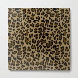 Leopard Print Pattern Metal Print