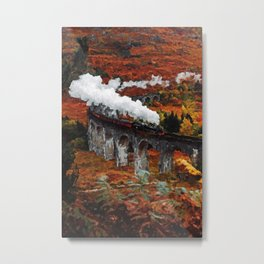 Glenfinnan Viaduct in Autumn, Scotland Metal Print