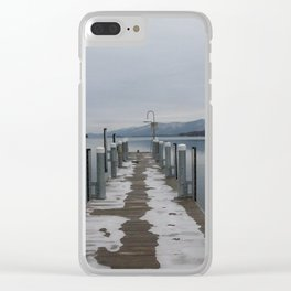 Lake George Dock Clear iPhone Case