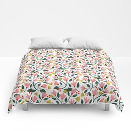 Pink Floral Pattern Comforters