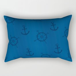 Pattern: wind rose and anchor Rectangular Pillow