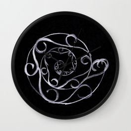 Meander - Silver & Black Wall Clock