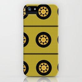 Black sun band iPhone Case