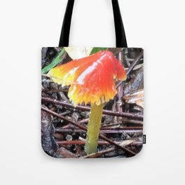 Red and Yellow Mushroom Tote Bag