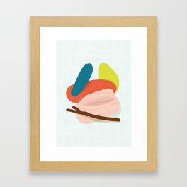 Sticks and Stones - Modern Abstract Framed Art Print