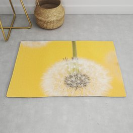 Whishes on yellow Rug