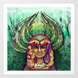 Meditation - Green Tara Art Print