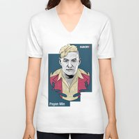 pagan V-neck T-shirts featuring Pagan Min by King Arnanda