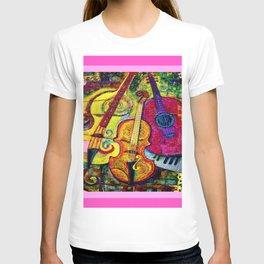 Rose Color Guitar String Instruments T-shirt