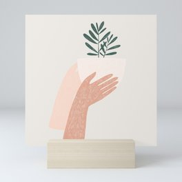 give plants, spread love Mini Art Print