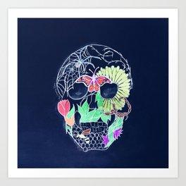 Chalk Art Skull Art Print