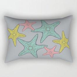 Starfish gray background Rectangular Pillow