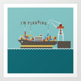 Planner Art Print