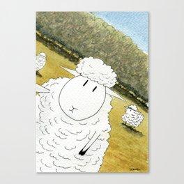 Sheep Selfie Fail Canvas Print