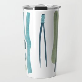 Sticks and Stones Illustration Travel Mug