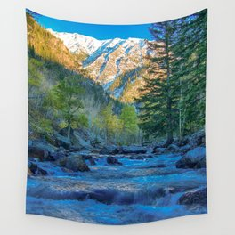 River Bed Sunrise // Long Exposure Landscape Photograph in the Colorado Rocky Mountains Wall Tapestry