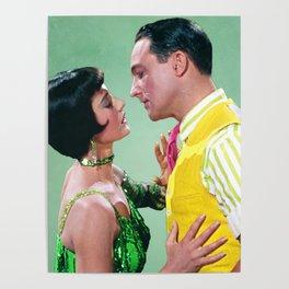 Gene Kelly & Cyd Charisse - Green - Singin' in the Rain Poster