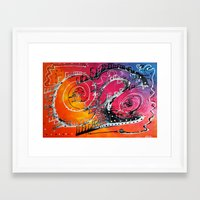 carnival Framed Art Prints featuring Carnival by Laura Barbosa Art