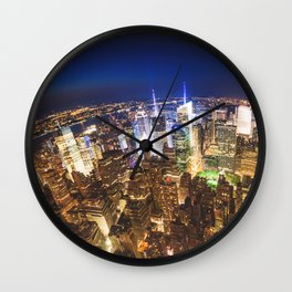 new york city building Wall Clock